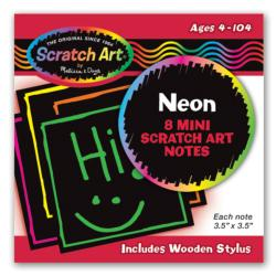 Neon Mini Scratch Notes Arts and Crafts