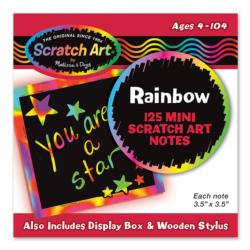 Rainbow Mini Scratch Art Notes (Box of 125) Arts and Crafts
