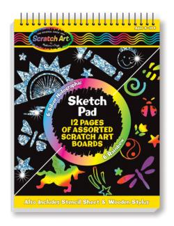 Scratch Art Sketch Pad Activity Books and Stickers