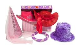 Terrific Toppers! Dress-Up Hats - Pink/Purple Pretend Play