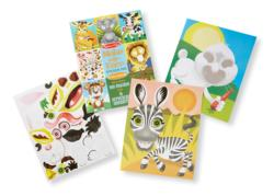Make-a-Face Sticker Pad - Crazy Animals Activity Book and Stickers