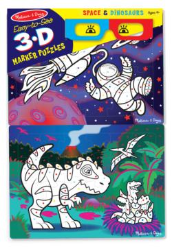 Space & Dinosaurs Children's Coloring Books - Pads - or Puzzles