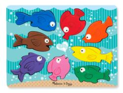 Colorful Fish Fish Wooden Jigsaw Puzzle