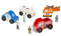 Emergency Vehicle Set Wooden