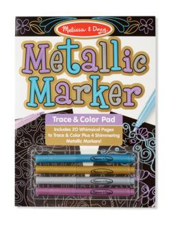 Metallic Marker Trace & Color Pad Activity Kits