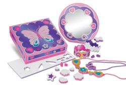 Treasure Box, Mirror & Jewelry Set Toy