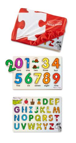 ABCs & 123s Peg Puzzles Educational Children's Puzzles