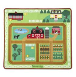 Round the Barnyard Farm Rug Toy