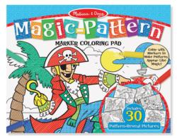 Magic-Patterns Coloring Pad - Blue Activity Book and Stickers