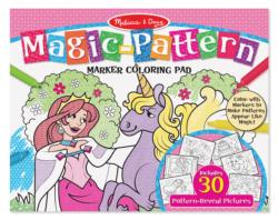 Magic-Patterns Coloring Pad - Pink Activity Book and Stickers