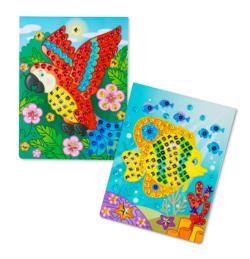 On-the-Go Crafts - Sequin Art - Animals Activity Book and Stickers
