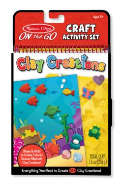 On-the-Go Crafts - Clay Creations Activity Book and Stickers