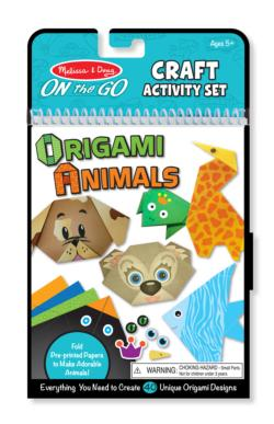 On-the-Go Crafts - Origami Activity Set - Animals Activity Book and Stickers