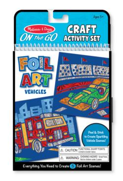 On-the-Go Crafts - Foil Art Vehicles Activity Book and Stickers