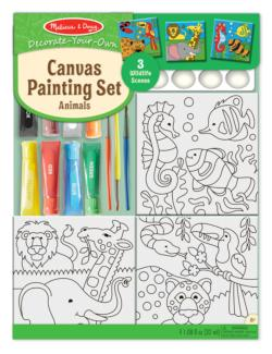 Canvas Painting Set - Animals Jungle Animals Activity Kits