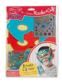 Simply Crafty - Superhero Masks & Cuffs Arts and Crafts