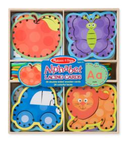 Alphabet Lacing Cards Dexterity Toy
