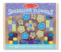 Sparkling Flowers Wooden Bead Set Arts and Crafts