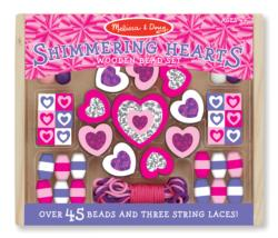 Shimmering Hearts Wooden Bead Set Arts and Crafts
