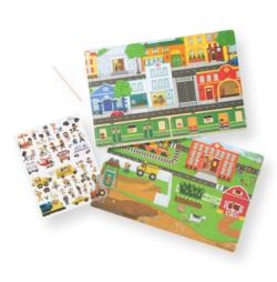 Transfer Sticker Scenes - Around the Town Activity Book and Stickers