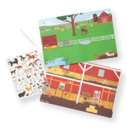 Transfer Sticker Scenes - Around the Farm Activity Book and Stickers