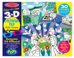 3D Coloring Book - Girl Hearts Activity Book and Stickers