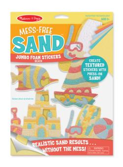 Jumbo Foam Stickers - Beach Toy
