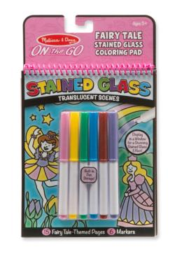 Stained Glass - Fairy Tale Children's Coloring Books, Pads, or Puzzles