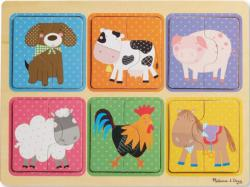Green Start Wooden Puzzle - Farm Friends Pig Multi-Pack