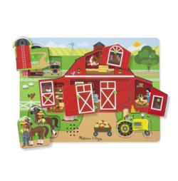 Around the Farm Before & After Puzzle Farm Animals Children's Puzzles