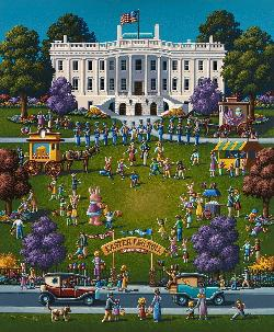 White House Easter Folk Art Jigsaw Puzzle