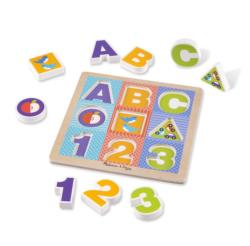 ABC/123 Chunky Puzzle Alphabet/Numbers Chunky / Peg Puzzle