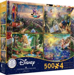 Thomas Kinkade Disney Dreams Collection 4 in 1 Multipack Puzzle Set Movies / Books / TV Multi-Pack