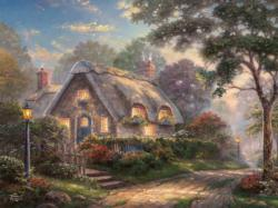 Lovelight Cottage (Thomas Kinkade Special Edition) Flowers Glitter / Shimmer / Foil Puzzles