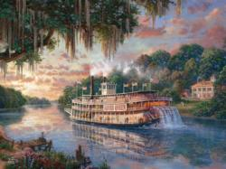 The River Queen (Thomas Kinkade Special Edition) Sunrise/Sunset Jigsaw Puzzle