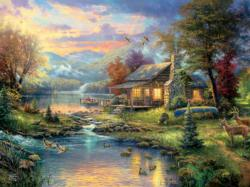 Nature's Paradise (Thomas Kinkade Special Edition) Sunrise / Sunset Jigsaw Puzzle