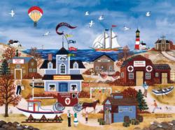 Seaside Splendor Lighthouses Large Piece