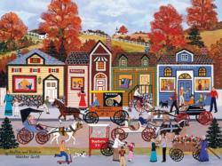 Hustle Bustle (Oversized Jane Wooster Scott) Folk Art Large Piece