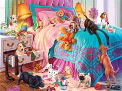Naughty Puppies Domestic Scene Jigsaw Puzzle