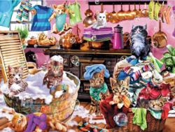 Kittens in the Kitchen (Paws Gone Wild) Baby Animals Jigsaw Puzzle