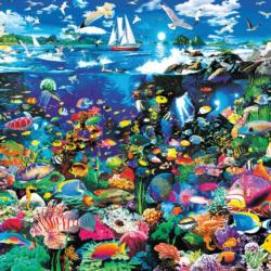 Tropical Lagoon (Oceans) Seascape / Coastal Living Jigsaw Puzzle
