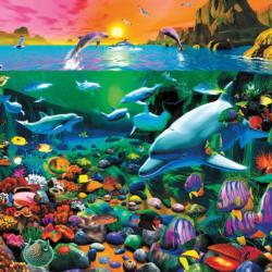 Tropical Island Waters (Oceans) Under The Sea Large Piece