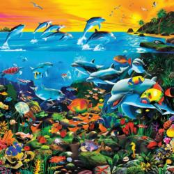 Tropical Island Waters (Oceans) Sunrise / Sunset Jigsaw Puzzle