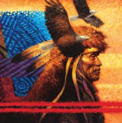 Tapestry (Native American Sunset) Native American Jigsaw Puzzle