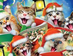 Christmas Kitty Selfie Series 2 Christmas Jigsaw Puzzle