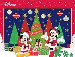 Mickey and Minnie Celebrate the Season Christmas Family Puzzle