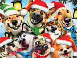 Christmas Dog Selfie Christmas Jigsaw Puzzle