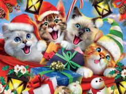 Kitty Holiday Selfies Christmas Jigsaw Puzzle