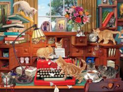 Writer's Block Domestic Scene Jigsaw Puzzle