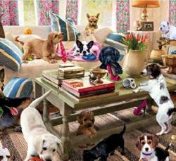 Living room Rompers Domestic Scene Jigsaw Puzzle